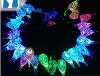 Free shipping 110-220V Crystal candle shape Christmas led string Lights 5m/50leds RGB light for Holiday/Party/Decoration