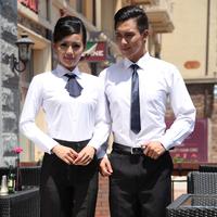Autumn and winter White shirt uniform work wear shirt in restaurant and hotel