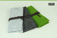 Wholesale free shipping wallet wool-material pen box  pen case Pencil case