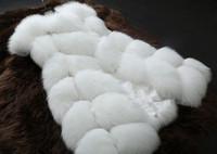 New 2014 Winter Coat Women Fashion Import Overcoat Whole Peel Fox Fur Vest High-Grade Cappa Fur Coat Leisure. Free Shipping
