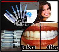 1Pack/lot Home Use Teeth Tooth Whitener Whitening Bleaching Dental Gel Syringe Kits + LED LASER Light MY316
