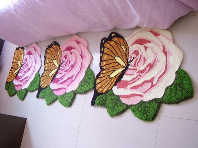 Tapete rosa tapetes em forma de borboleta rosas do jardim tapetes
