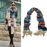 Bohemia Vintage Plaid Strip Lady Long Tassel Knit Women Cashmere Scarf Shawl Wrap Winter Scarves#65924