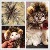 Funny Cute Pet Dog Lion Mane Cat Hat Wig Cosplay Lion Stuffed Plush Toy P-0011