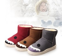 2014 women's fashion boots round head short boots snow boots   Waterproof non-slip cute cartoon bootsFree shipping