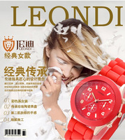 Fashionable ladies watches Korean version of Jelly small fresh retro fashion female form shipping