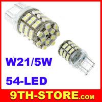 White T20 54 SMD LED Car Tail Brake Turn Back up Light Bulb Lamp 10pcs/lot free shipping dropshipping Wholesale