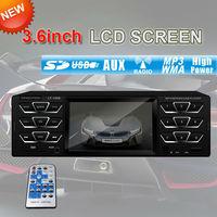 3.6'' LCD Screen Car Radio MP5 Player MP4,MP3 Player  Audio Stereo Head In Dash Fm Receiver USB AUX Video