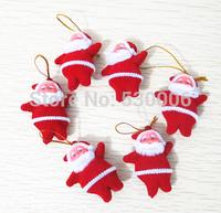 (Pack of 20pcs) Cute Xmas Decor Ornament Santa Claus Pendant Doll New Year Merry Christmas Decoration Hanging Toys Navidad