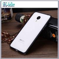 2015 New 0.7mm Ultrathin Metal Bumper Case For Meizu Mx4 Bumper Case Fashion Aluminum Phone Case 6 Colors+Screen Protector