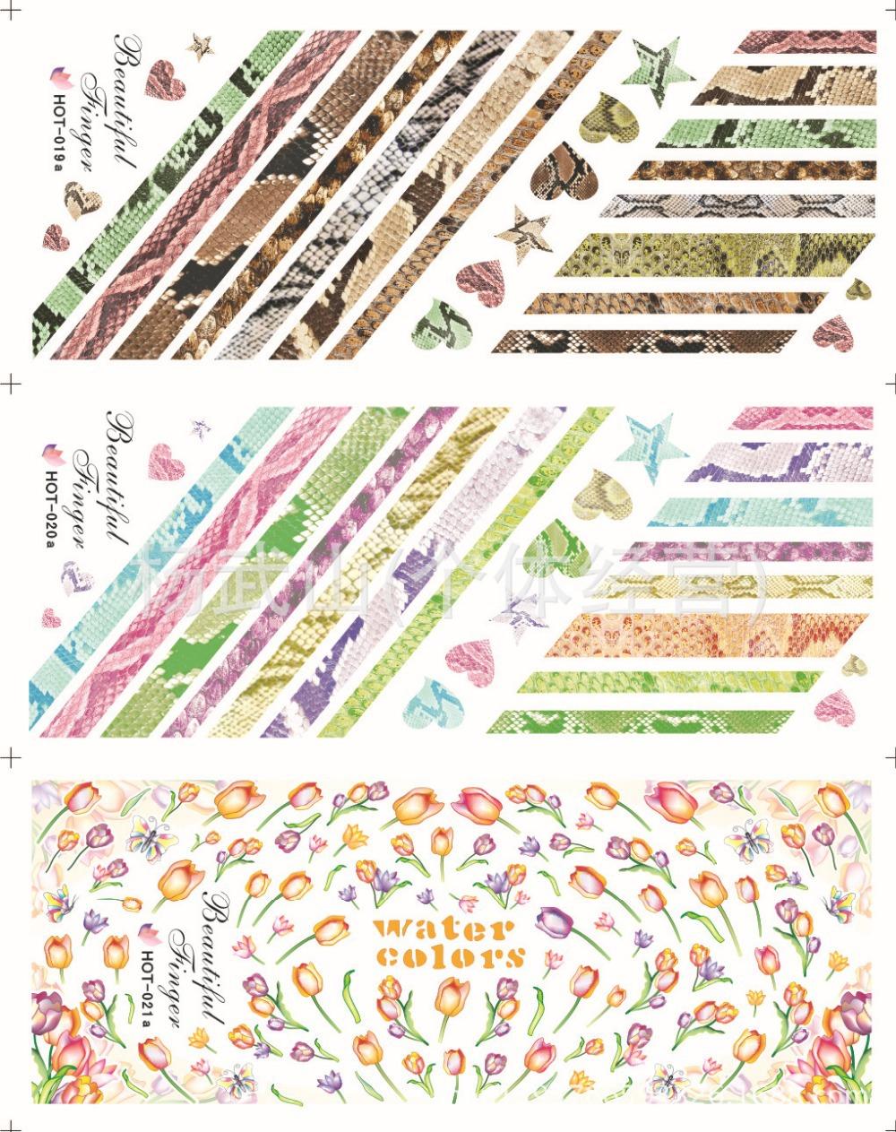 Wholesale Fashion japan style1 Sheets 3D Design cute DIY Tip Nail Art Nail Sticker Nails Decal Manicure nail tools HOT019a-021a(China (Mainland))