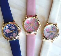 New Fashion Leather Strap Geneva Watches Women Dress Watches Quartz Wristwatch Watches AW-SB-1132