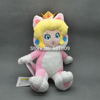 "Free Shipping Super Mario 3D World Plush Toy Doll by Sanei - 8"" Peach Princess Cat"