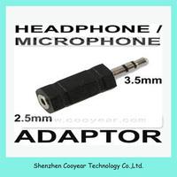 3.5mm Stereo Plug(Male) to 2.5mm Mono Jack(Female) Adaptor