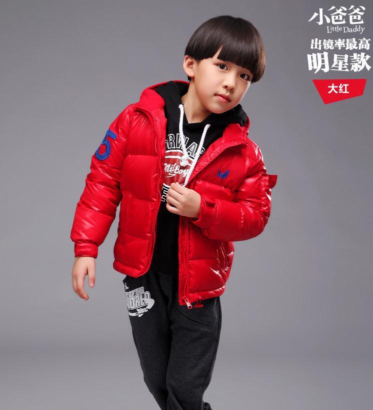 2014 new style fashion winter Cotton-padded clothes Children warm coat Christmas coat boys(China (Mainland))