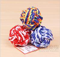 2014 New Fashion Camouflage Cotton Spherical Dogs Knot Knit Rope/Cheap Mini Cute Mini Pet Toys 5pcs/lot