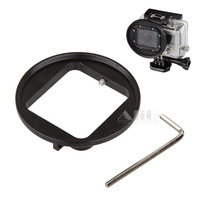For GoPro HERO 3+ HERO 4 Filter Adapter HD Mini Camcorder to 52mm Red Filter Polarized Mount Underwater Photo GoPro Accessories
