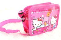 Free Shipping 48pcs Hello kitty purse cartoon kids snack pack single shoulder satchel
