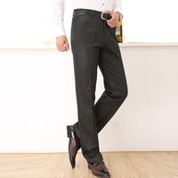 2014 autumn/winter a thick men's slacks middle-aged pants business casual loose straight Elastic Long Famous Designer pants