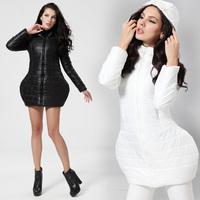2014 women's winter cotton-padded jacket slim wadded jacket female