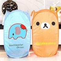 New Lovely Durable Cartoon Foldable Clothes Animal Laundry Basket Storage Practical Hamper Bag #52047