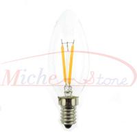 New 2500K Edison C35 2W Glass Warm White Candle LED Bulb Lamp E14 Energy Saving Light 200V-240V Free Shipping 5pcs/lot