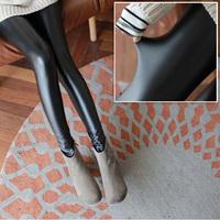 Trousers spring and autumn pants autumn faux leather legging plus size clothing pencil pants