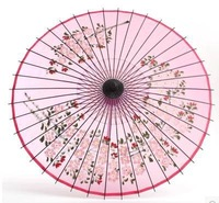 Pure handmade Hangzhou silk umbrella Hand-painted with plum silk  peach umbrella