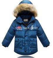 children's clothing winter coat large boy down jacket child clip plus thick velvet padded cotton jacket 2014 new