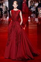 2014 formal long evening dresses Luxury Crystals Beaded Evening gowns with plus size vestido de festa de casamento longo luxo
