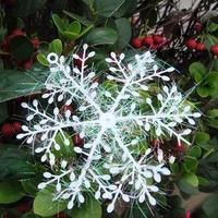 10cm Snowflake Celebrate Decoracao De Natal Christmas Decoration for Home Christmas Tree Ornament Party Supplies 3 Pieces / Pack
