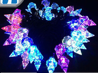 Free shipping 110-220V Crystal Tower shape Christmas led string Lights 5m/50leds RGB light for Holiday/Party/Decoration
