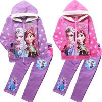 with fleece  frozen girls hoodies long sleeve frozen princess children sweatshirts, 2014 baby kids outerwear jacket coat
