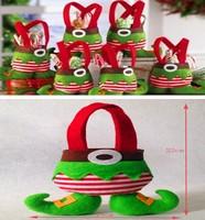 High-grade wool woolen Christmas decorations Christmas  candy bag /Gift bag- free shipping