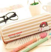 1pcs Kids Vintage Canvas Zipper Pencil Bag - Northen Bear