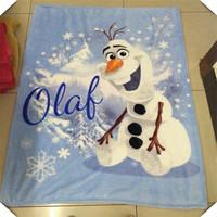 OLAF Blanket Fleece Frozen Blanket Quite Soft Frozen Blankets for Kids Anna Elsa Blanket New Arrival Wholesale Dropship