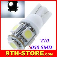 70078 10Pcs/lot 5050 SMD 5 LEDs Car Side Wedge Light Lamp White Auto Bulb Led Lighting Source T10 168 194 W5W Lighting White