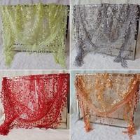 Lace Hollow Hook Floral Women Long Scarf Wrap Ladies Shawl Girls Large Silk Scarves Women#65921
