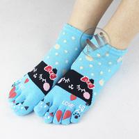 NEW Antibacterial Breathable Short Tube Cotton Five Toe Socks Leisure socks 10Pair Free Shipping