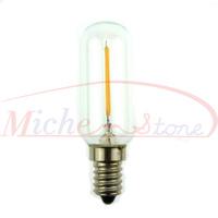 New Arrival 2500K Edison T25 2W Glass Warm White LED Bulb Lamp E14 Energy Saving Light 200V-240V Free Shipping 5pcs/lot