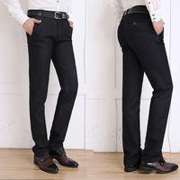 antumn/winter 2014 brand new business men soild straight casual pants business formal non-iron slacks