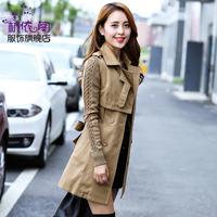 female outerwear spring and autumn 2014 medium-long Windbreaker female coat long paragraph Slim Ladies