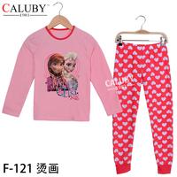 2014 Christmas New Year 8T- 12T sports sets child 2 piece suit Pyjamas new baby costumes love frozen pyjamas