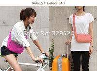 1pcs Cycling Women's Casual Nylon Waterproof Slim Messenger Bag (30*15cm, 4 Colors)