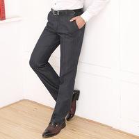 antumn/winter 2014brand  new formal men's soild straight cotton wrinkle-free pants hot dad authentic  casual slacks