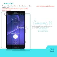 Original NILLKIN Amazing H Nano Anti-burst Tempered Glass Screen Protector Film For Sony Xperia Z3 compact M55W + Free shipping