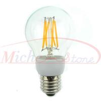 New Arrival 2500K Edison A60 6W Glass Warm White LED Bulb Lamp E27 Energy Saving Light 200V-240V Free Shipping 5pcs/lot