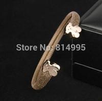 titanium steel bear bracelet,three color