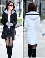 2014 slim medium-long down coat female plus size winter thickening outerwear