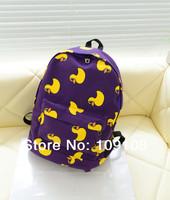 New arrival fashion men's backpack canvas women backpack student school bag campus shoulder cartoon bag -5